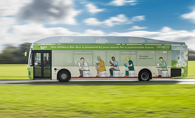UK's first 'poo-powered' bus now operating between Bristol and Bath