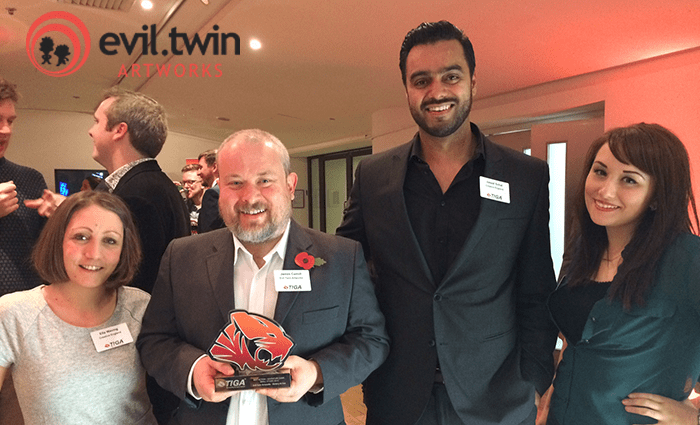Swindon-based game developers Evil Twin Artworks win TIGA award