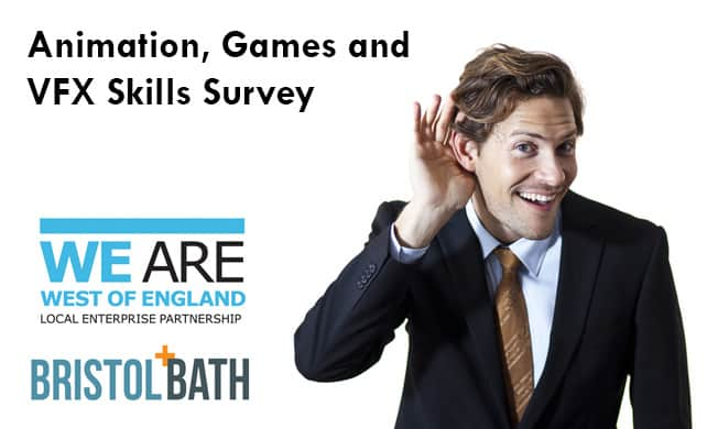 Take part in the Animation, Games & VFX Skills Survey