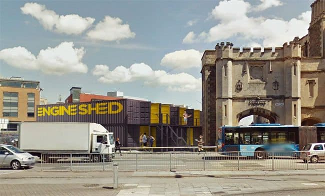 Engine Shed gets planning permission for shipping container offices