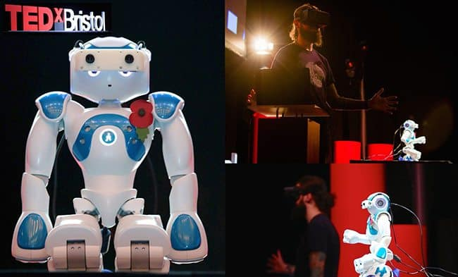 Spotlight on: Bob – the first humanoid robot avatar to present at a TED talk