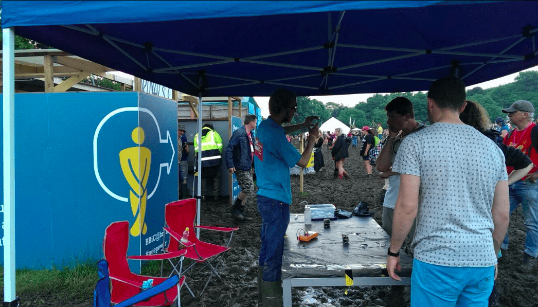 pee power at glastonbury festival