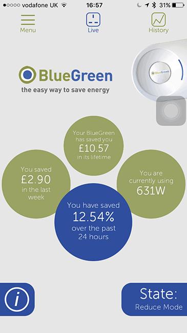 Bristol BlueGreen app acreen shot