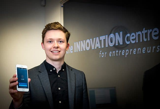 James Courtney at the Innovation centre