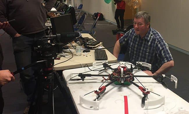 Autonomous drones fly into TV