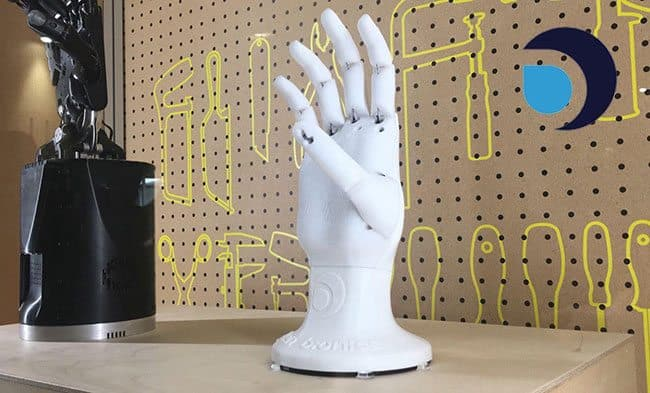 Open Bionics' 3D-printed robotic hand is being showcased at the Science Museum