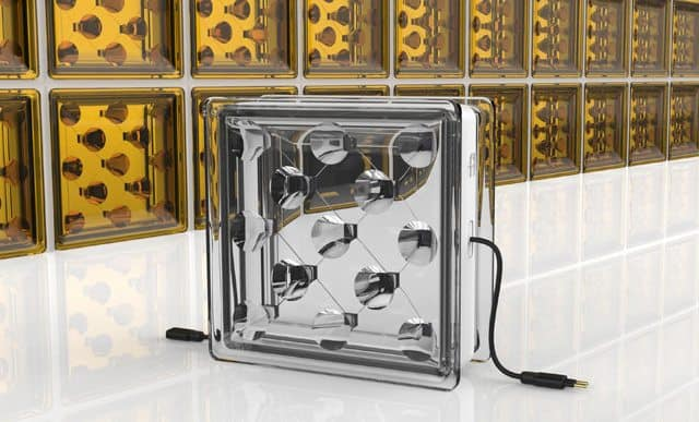 Glass bricks generate electricity for buildings