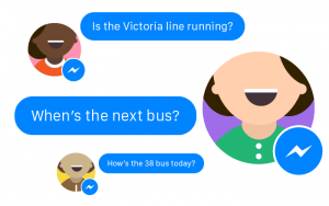 Image showing how the TFL chatbot works