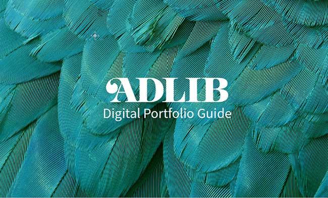 Download the ADLIB Digital Portfolio Guide 2018