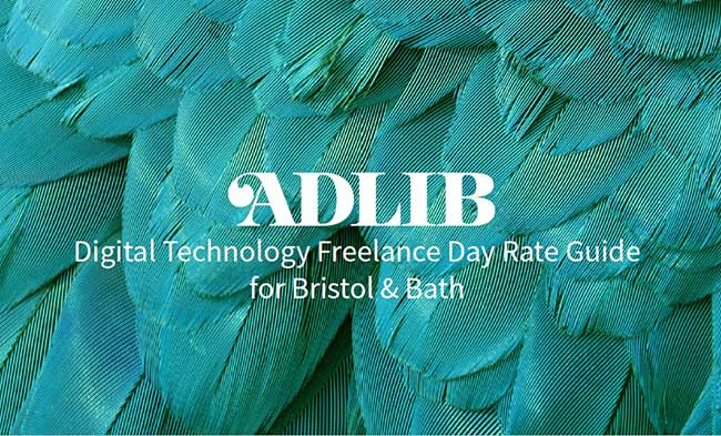 Download the ADLIB digital tech freelance day rate guide for Bristol & Bath 2018