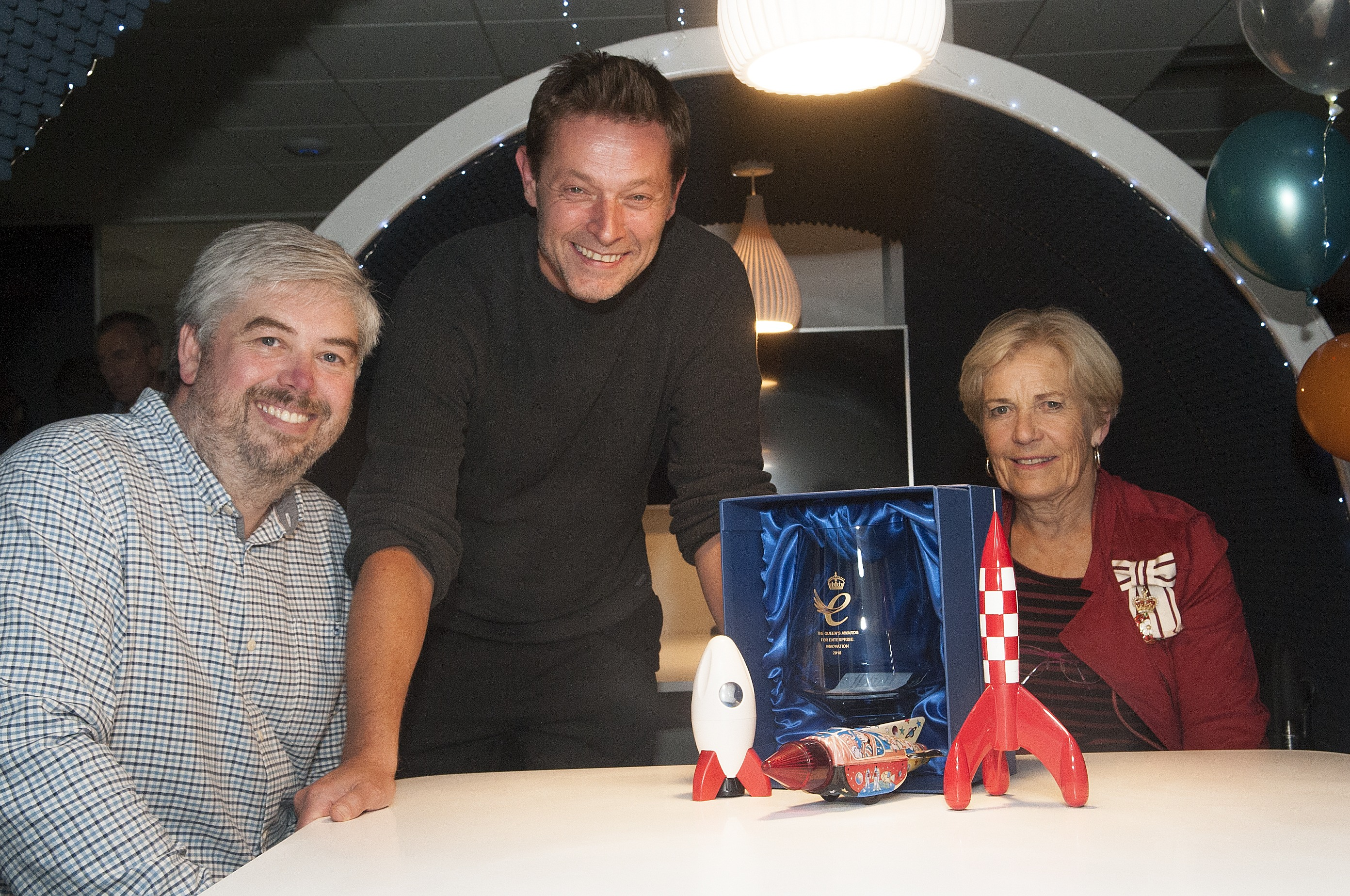 Queen's Award for Enterprise presented to Rocketmakers by representatives  of Her Majesty The Queen
