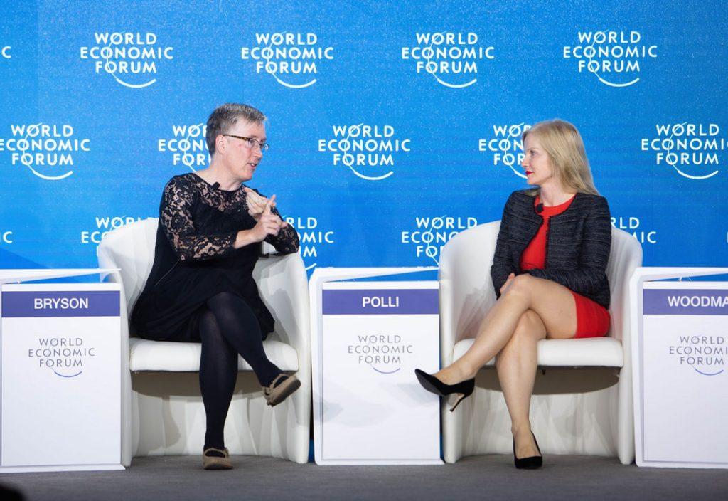 Bath Digital Festival - Two women talking at World Economic Forum
