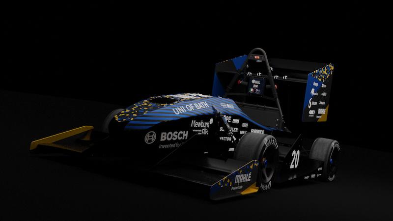 Team Bath Racing Electric 2020 race car unveiled online